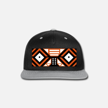 Tribal Mask Cap (Orange) - Snapback Cap