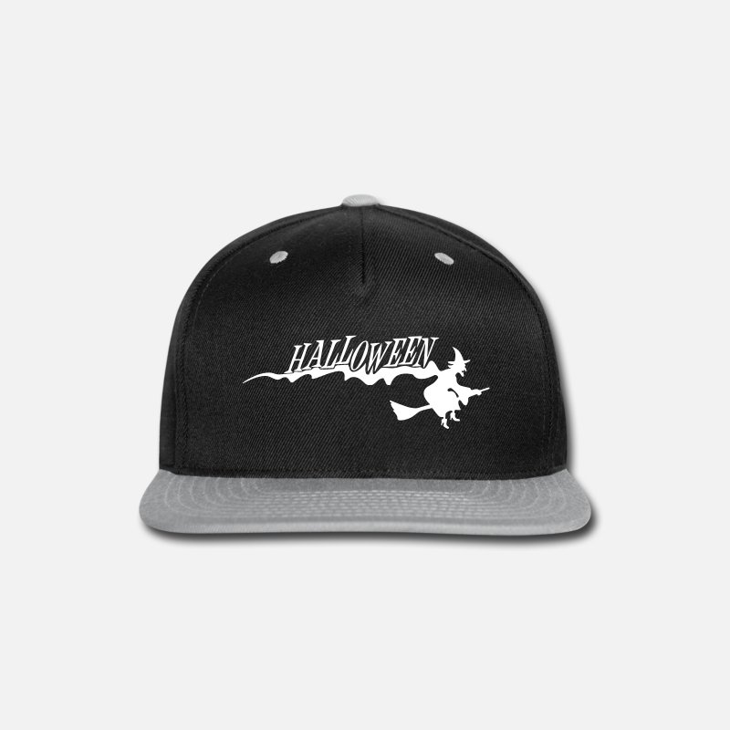 7b3c16628a0 Magic Caps - Halloween witch witches broom witchcraft - Snapback Cap  black gray