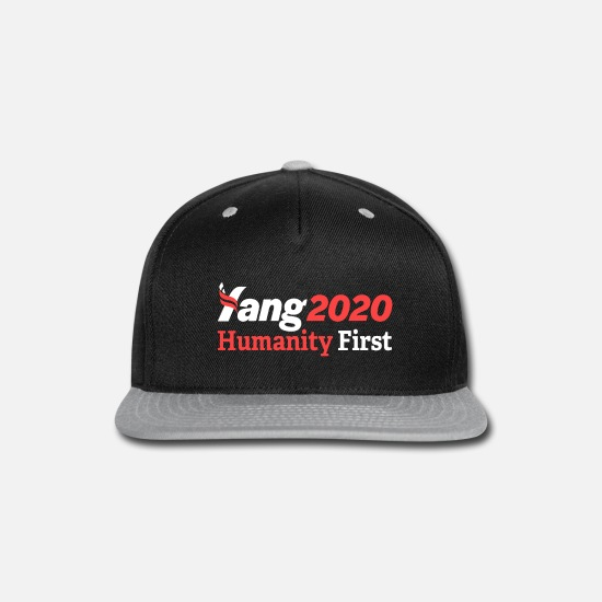 Andrew Caps - yang for president - Snapback Cap black/gray