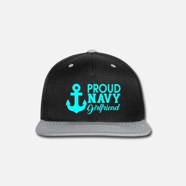 proud navy girlfriend - Snap-back Baseball Cap