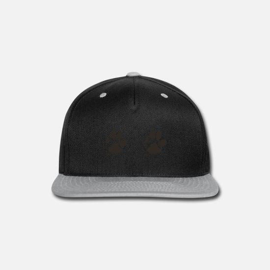 Dogs Caps - Bra Tee Shirt dog paws - Snapback Cap black/gray