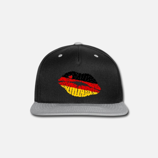 Heart Caps - Flag Kiss Lips Germany kb2 - Snapback Cap black/gray