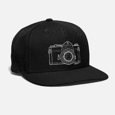 Camera Asahi Pentax 35mm Vintage Camera Line Art (White) - Snapback Cap