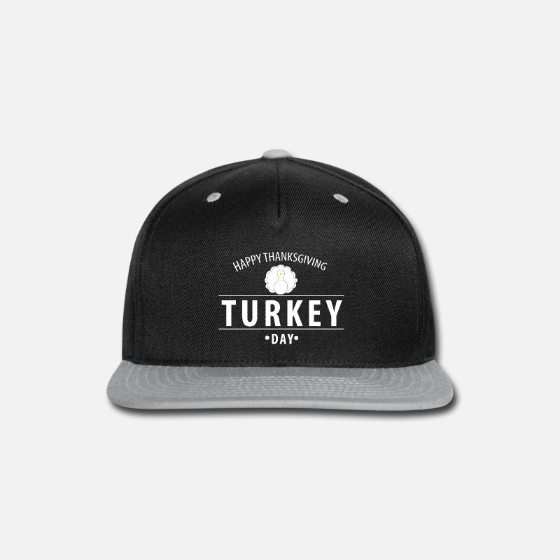 Happy Holidays Caps - Happy Thanks Funny - Snapback Cap black gray 732da458bf3
