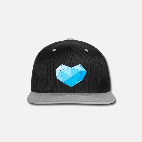 Blue diamond heart for people with heart Snapback Cap  9e2719b0212