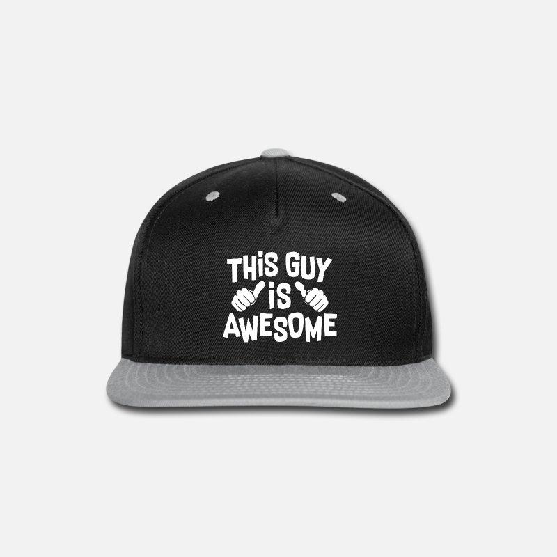 Guys Night Out Caps - This Guy Cool - Snapback Cap black gray 9f828fd3eeb