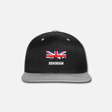 b3b3eb4e865 British Flag British Flag Birmingham Skyline - Snapback Cap
