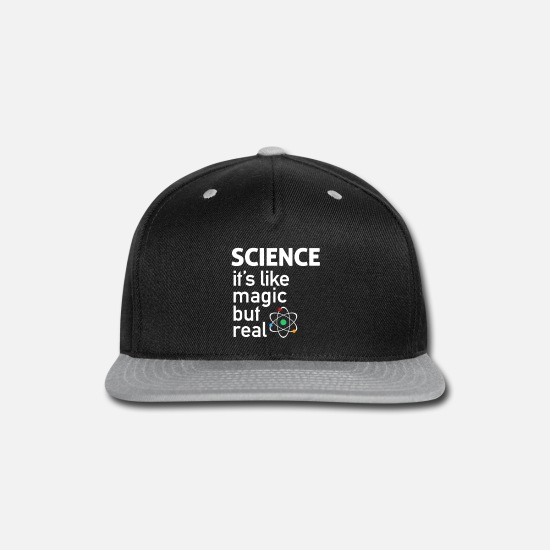 Chemistry Caps - science t shirt - Snapback Cap black/gray