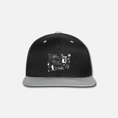 e2e401f0d9ac7 Urban Street Art Tram Bear Bridge Bicycle White - Snapback Cap