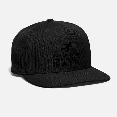 Percent Run Like Phone Battery One Percent - Snapback Cap
