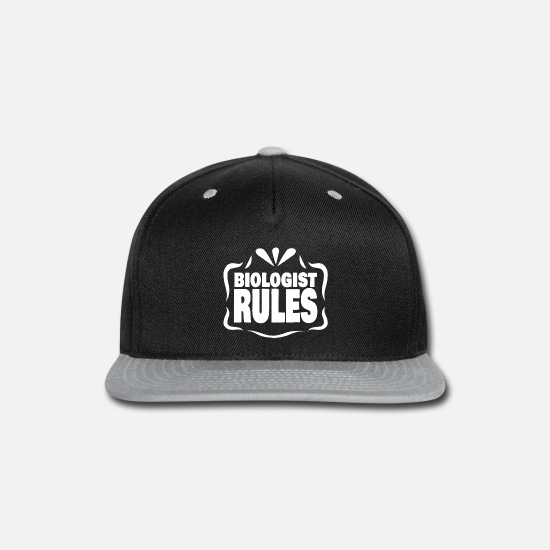 Perfect Dinner Caps - Perfect because biologist Rules - Snapback Cap black/gray