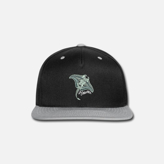 Tribal Caps - Hawaiian Tribal Ray - Snapback Cap black/gray
