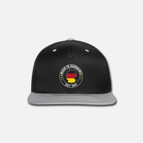 Munich Caps - Made In Germany Since 1973 Birthday Gift Idea - Snapback Cap black/gray
