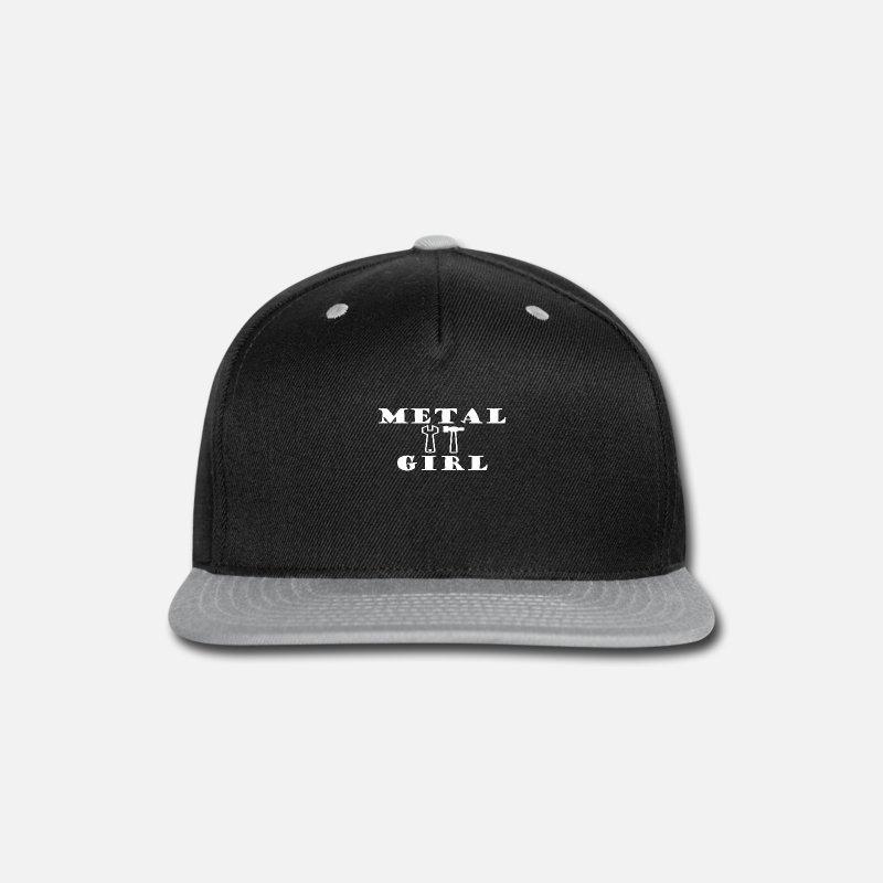 Heavy Metal Caps - METAL GIRL Heavy Metal - Snapback Cap black gray 485a7b573c1