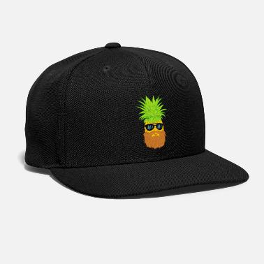 Cool-cute-stylish-mustaches Bearded Fruit Cool Pineapple Graphic Tshirt - Snapback Cap
