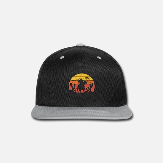 Ride Caps - Horsing Shirt For Horse Lovers With Silhouette Of - Snapback Cap black/gray