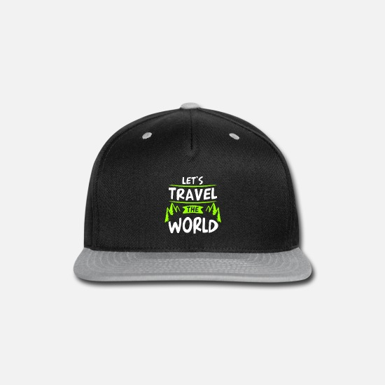 World Map Caps - Let's travel the world - Snapback Cap black/gray