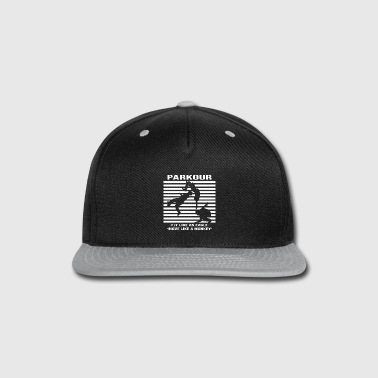 Backflip Parkour backflip white - Snap-back Baseball Cap