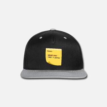 Post have sex NOT - Snap-back Baseball Cap