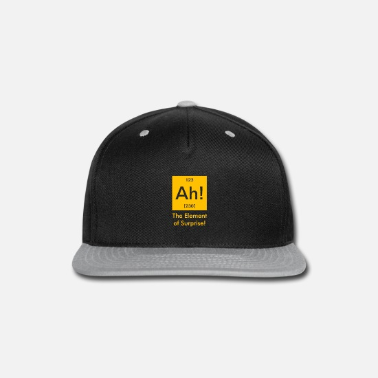 Surprise Caps - ah element of surprise - Snapback Cap black/gray