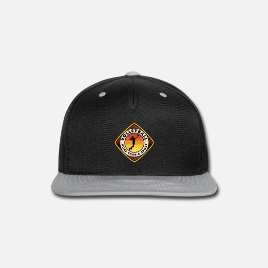 Sun Caps - Volleyball T-Shirt - As a special gift. - Snapback Cap black/gray