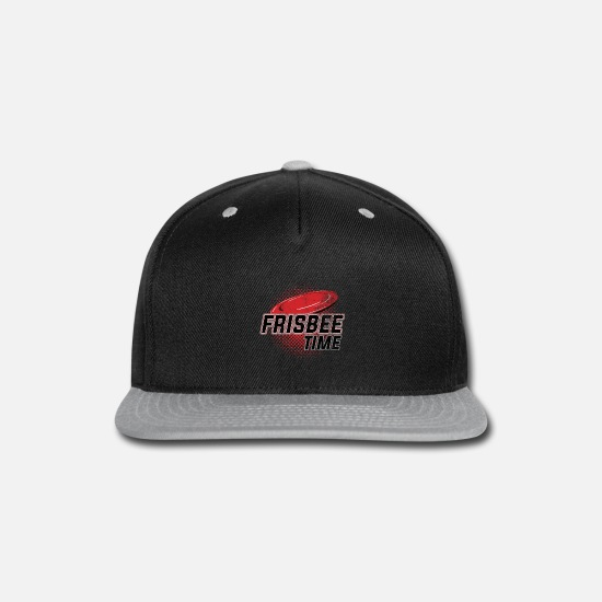 Ultimate Caps - Frisbee Time - Ultimate Frisbee - Snapback Cap black/gray