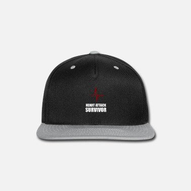Heart heart attack survivor - Snapback Cap