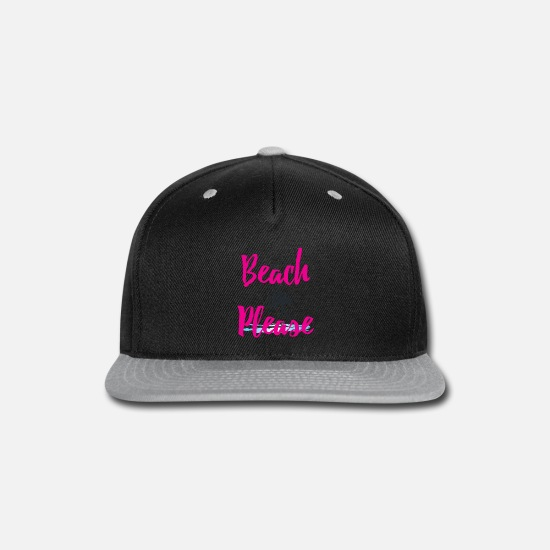 Pink Caps - Beach Please - Snapback Cap black/gray