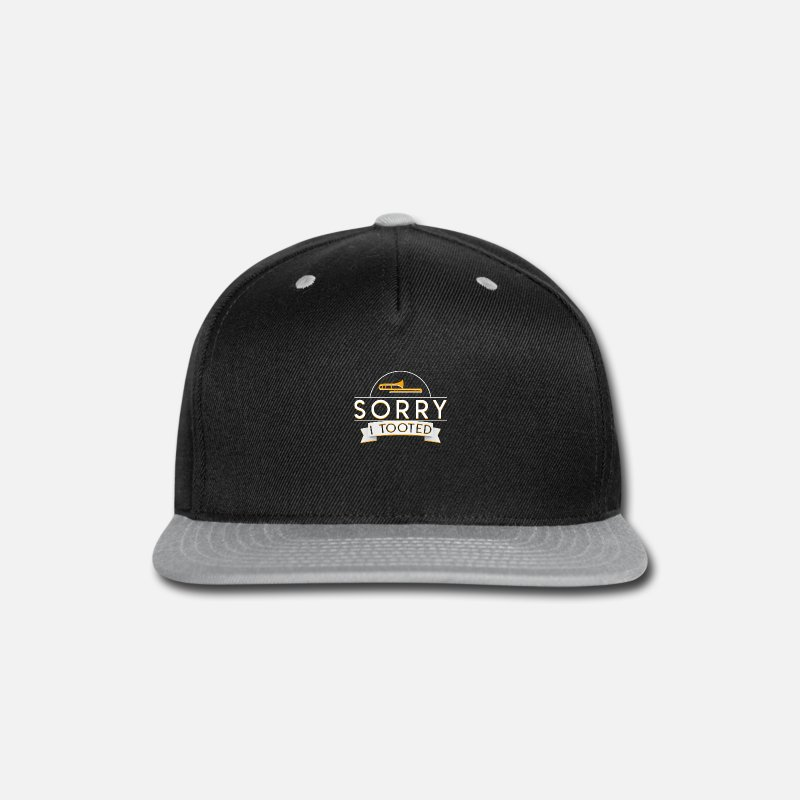 Trombone Caps - Trombone Player Marching Band Tooted - Snapback Cap black/gray