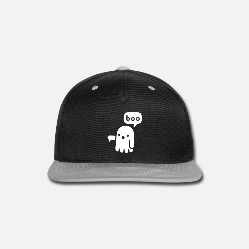 Boo Caps - 1- Ghost Of Disapproval - Snapback Cap black/gray