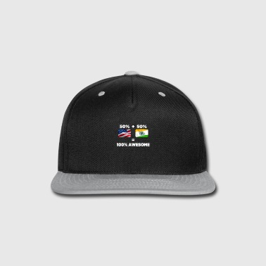 American Indian Half Indian Half American Totally Awesome - Snap-back Baseball Cap