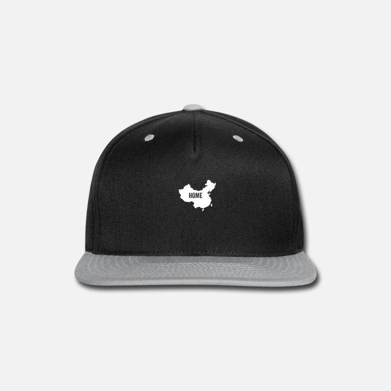 fb5525fccf6 Wuhan Caps - China Home - Snapback Cap black gray