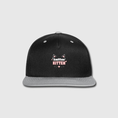 Corazon Funny Cat Ears Whiskers - Smitten Kitten - Snap-back Baseball Cap