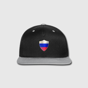 Military Russia Flag Shield - Snap-back Baseball Cap