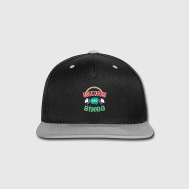 Bingo Unicorn And Bingo Gift - Snap-back Baseball Cap