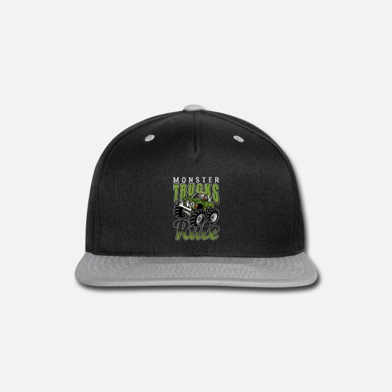 Grave Caps - Monster Trucks Rule - Snapback Cap black/gray