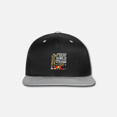 Shield Operation Desert Storm-Shield Veteran ODS Gift Shi - Snapback Cap
