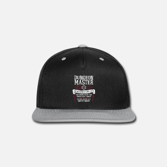Master Caps - Dungeon Master, The Weaver of Lore & Fate - Snapback Cap black/gray