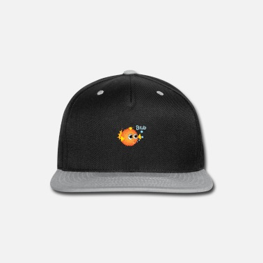 Under Water Puffer Fish Blub under water in the ocean - Snap-back Baseball Cap