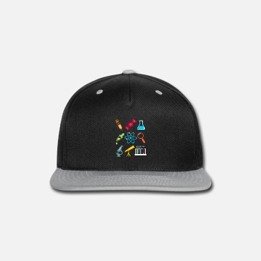 Icon Physik DNA Element Atom E=mc² Science Gift - Snap-back Baseball Cap