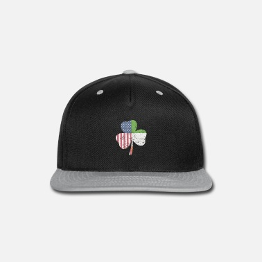 acb8cd0ebf0b8 IRISH AMERICAN FLAG Ireland Shamrock St Patricks D Snapback Cap ...