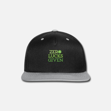 Zero Lucks Given St Patricks Day Irish Shamrock - Snapback Cap