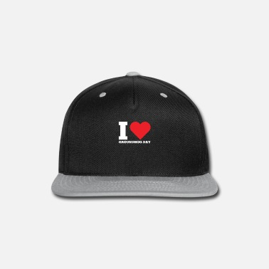 Hog I Love Groundhog Day Woodchuck Celebrate - Snap-back Baseball Cap