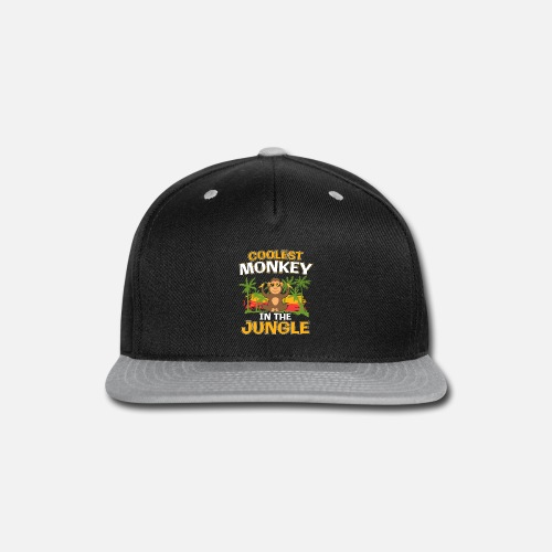 5ddbec74df8 Coolest Monkey In The Jungle Gift - Snapback Cap. Front
