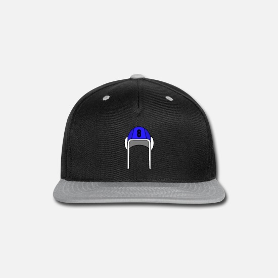 Love Caps - Blue Water Polo Cap Nr. 8 | Gift Idea for Players - Snapback Cap black/gray