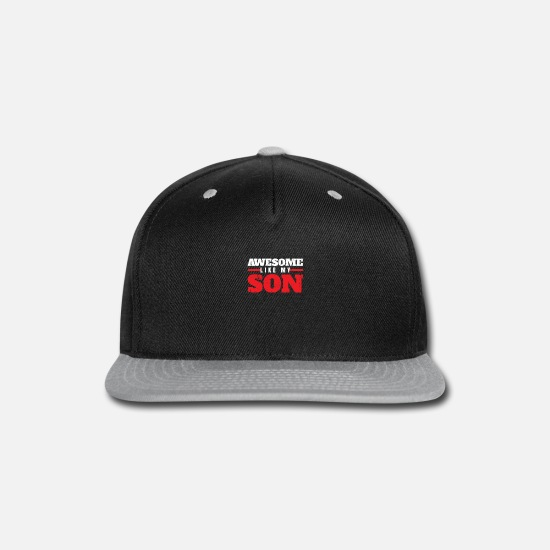 Son Caps - Father Son - Snapback Cap black/gray