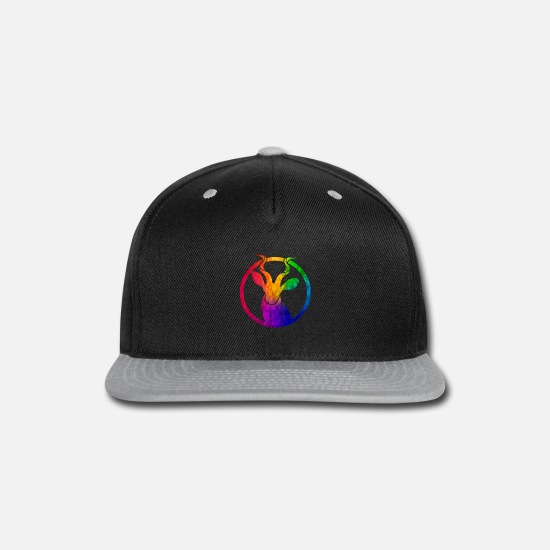 Hippie Caps - Psychedelic Hippie Impala design Gift Colorful - Snapback Cap black/gray
