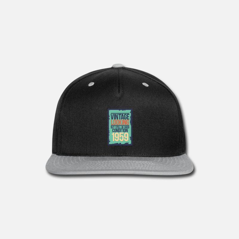 Gift Idea Caps - 1959 - Snapback Cap black/gray