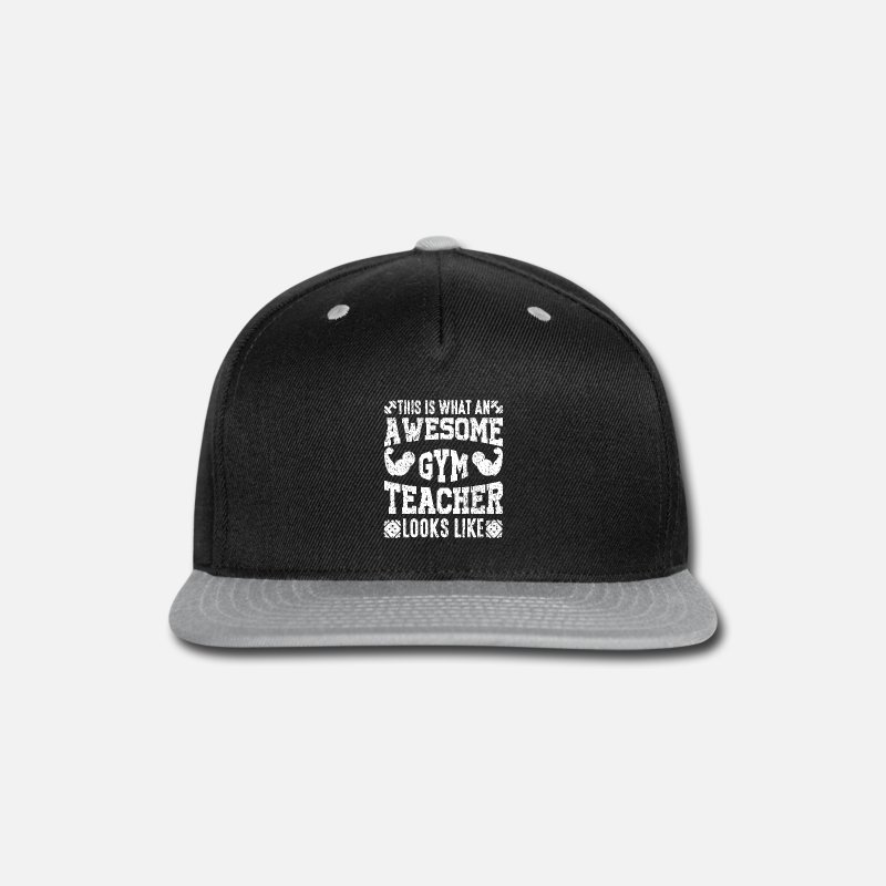 Occupation Caps - This is what a wonderful gym teacher looks like - Snapback Cap black/gray
