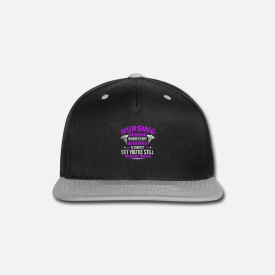 Gift Idea Caps - Nurse School - Snapback Cap black/gray